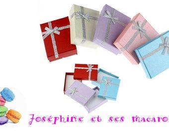 Pink 1 jewel 9x7cm Rectangle gift box