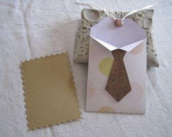 Bag tag, gift, tag, kraft, brad, tie