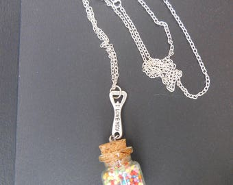 Gourmet chain with glass vial necklace