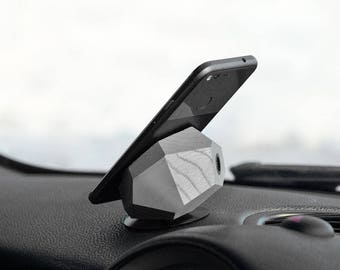 Dash mount wooden phone holder - Halo Auto Ghostly Shade