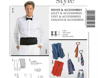 Hand sewn from vest man pattern & accessories, Burda 3403