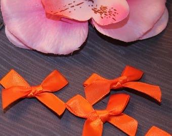 5 35x45mm jewelry scrapbooking Orange satin bows