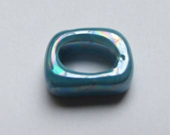 PASSING ceramic RECTANGLE TURQUOISE 18x15MM