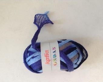 Wool nuanced blue ruffle