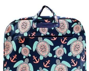 Multi Color Preppy Sea Turtle Garment Bag