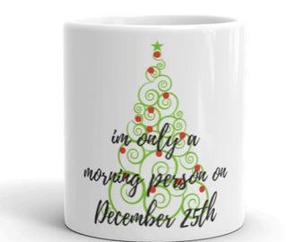 Christmas morning holiday mug