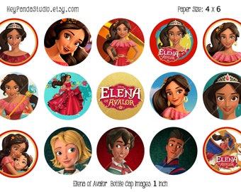 Elena of Avalor Printable Bottle Cap Images - 1 Inch - Elena of Avalor Bottlecap - Elena of Avalor Party Prints / Supplies