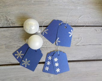 Set of 6 simple tags for gifts, 3 different designs.