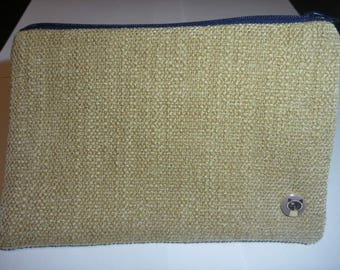 Pretty make-up bag Navy Blue and beige