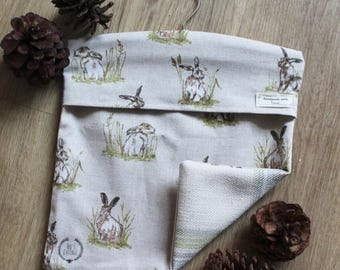 Rabbit Peg Bag
