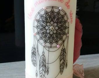large candle personalized custom