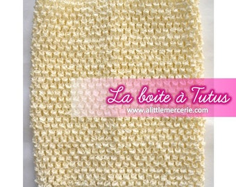 0/12 months ★ stretch crochet for baby tutu dress strapless / girl ivory ECRU ★