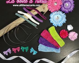 Headband Kit bright baby girl ★ stretchy women headband hair accessory glitter flower B9