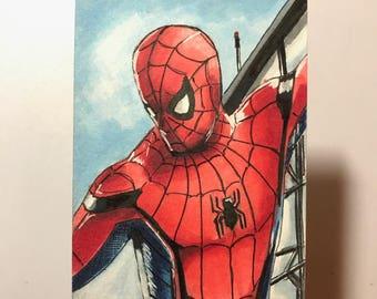 Spiderman Homecoming - Artist Sketch Card