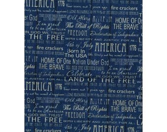 patchwork fabric American writing 11230601