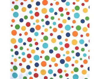 large round white patchwork fabric multicolored ref 210239