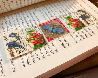 Exptioc Birds and Floral Bookmark