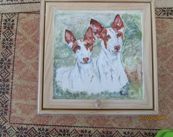 painting podenco wooden jewelry box