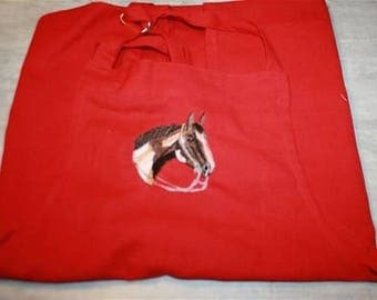 embroidery horse apron