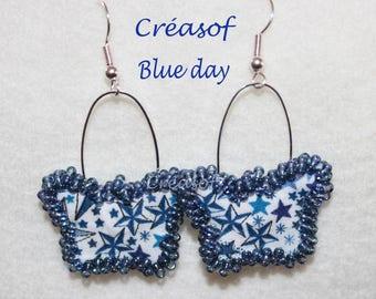 Blue day earrings