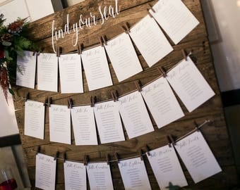 Find Your Seat Wood Sign | Wedding Seating Chart (Local Delivery Options)
