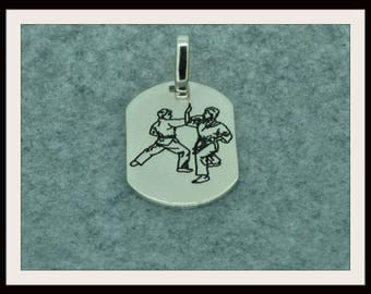 Pendant silver Sterling martial arts