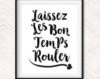 laissez les bon temps rouler art printable mardi gras new orleans let the - Fantastisch Badezimmereinrichtung