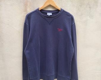 Vintage Reebok Sweatshirt Small Logo Jumper Pullover 90s L size Rare Item