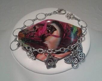 Multicolor fashion Fimo bracelet.