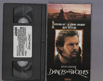 VHS Tape: Dances With Wolves - Kevin Costner
