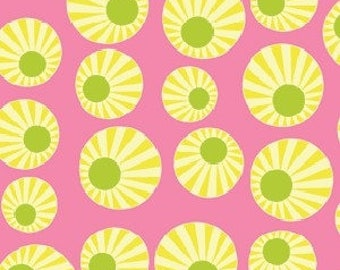 Patchwork fabric Benartex - pink circle - Arianna collection - coupon 50 x 100 cm