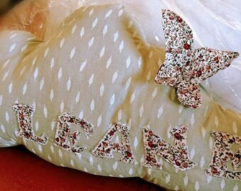 personalized with applique pillow
