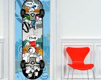 sticker holder skate 204 x 83 cm. Made in Aix en Provence