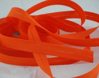 Orange polycotton bias