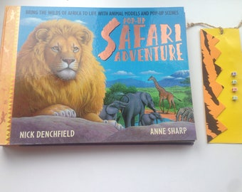 Pop up safari adventure and free book mark