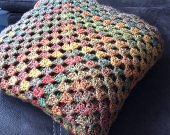 Cosy Autumnal Handmade Double Knit Wool Throw