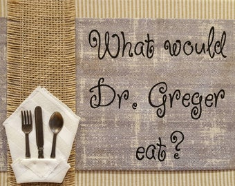 What Would Dr. Greger Eat? Refrigerator Sign Magnet Plant Strong Plant Powered Vegan