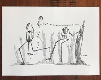 To Where?, Trees and Technology Print