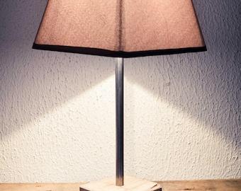 "Vintage - ""Cube Wood"" - light Taupe color"