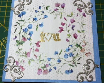 I hand made card love you