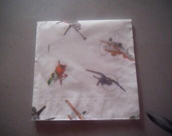 """Pretty paper TOWEL pattern """"Planes"""""""