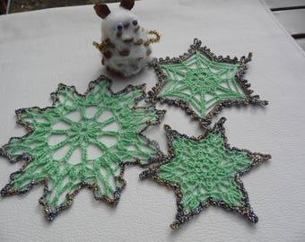 Small doilies crochetfait connoisseur of Christmas