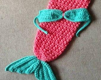 Newborn mermaid tail photo prop set