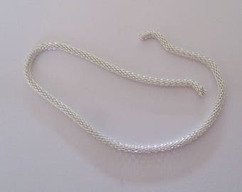 """Silver fancy chain """"snake"""" 21.50 cm"""