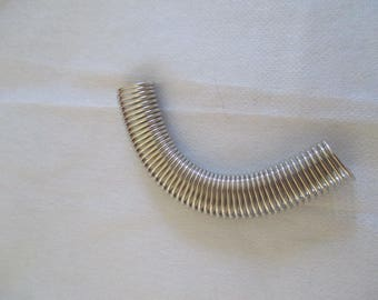 Silver metal spring wire tube flexible and soft