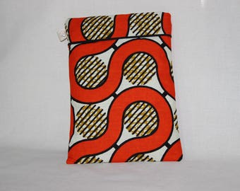 Tablet case made from African fabric - CURCUBITA