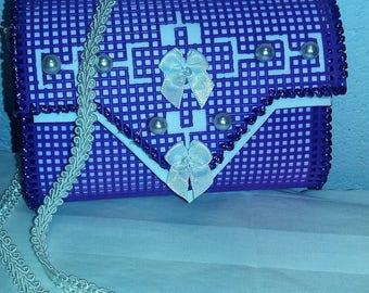 Handcrafted Little Girl Purse - Purple