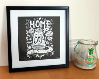 Cat picture frame