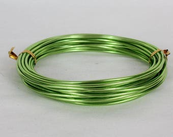 6 meters wire aluminum 2 mm light green crafting and decorating