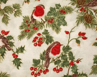 """Fabric freedom """"Merry Christmas Collection"""" 04 embroidery - Robin"""